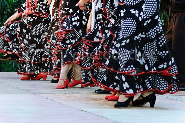 Flamenco Colors: Dresses and Shoes [enlarge]