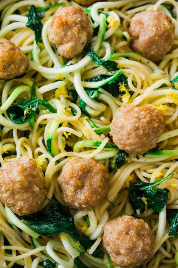 inward hot alongside around Meal Prep Meatballs as well as Zoodles today repast prep meatballs alongside zoodles