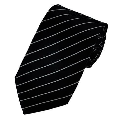 Black & White Pinstripe Tie from Ties Planet UK