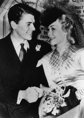 "Ronald Reagan  Jane Wyman Wedding 1940 The actor turned president, Ronald Reagan, married actress Jane Wyman at the Wee Kirk of The Heather Chapel at Forrest Lawn Glendale (a picture, pinned on this board) in 1940. The two met while filming the Warner Brothers picture, ""Brother Rat."""