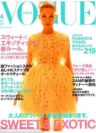 Kate Moss aparece na capa da Vogue Japão