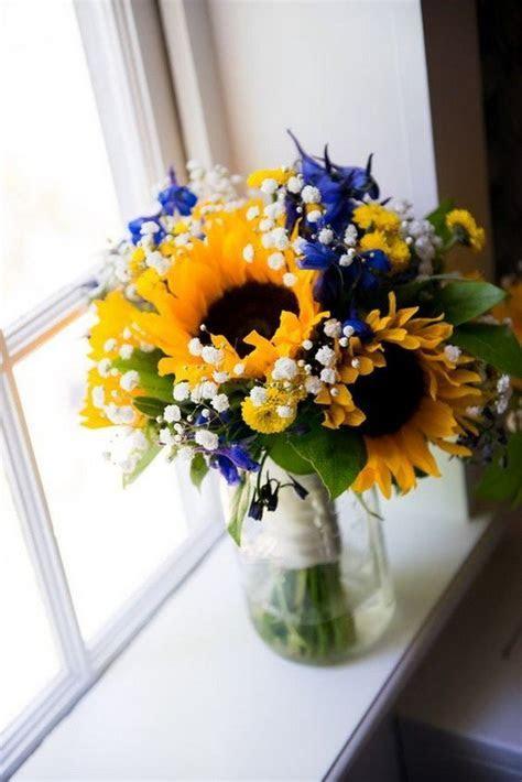 18 Cheerful Sunflower Wedding Centerpiece Ideas   Page 2