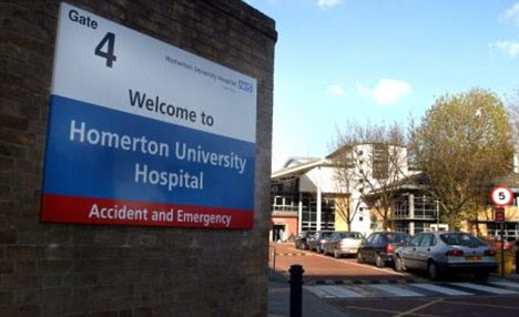Homerton University Hospital in East London, where the Nigerian woman gave birth to quintuplets