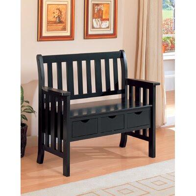 Wildon Home ® Upland Wooden Entryway Storage Bench   Wayfair