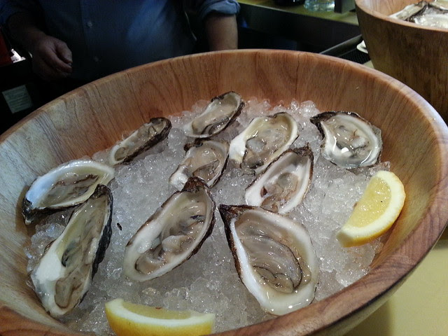 oysters at grain