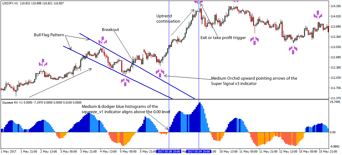 Forex Flag Pattern Indicator Mt4 Pennant Flag Channel And -