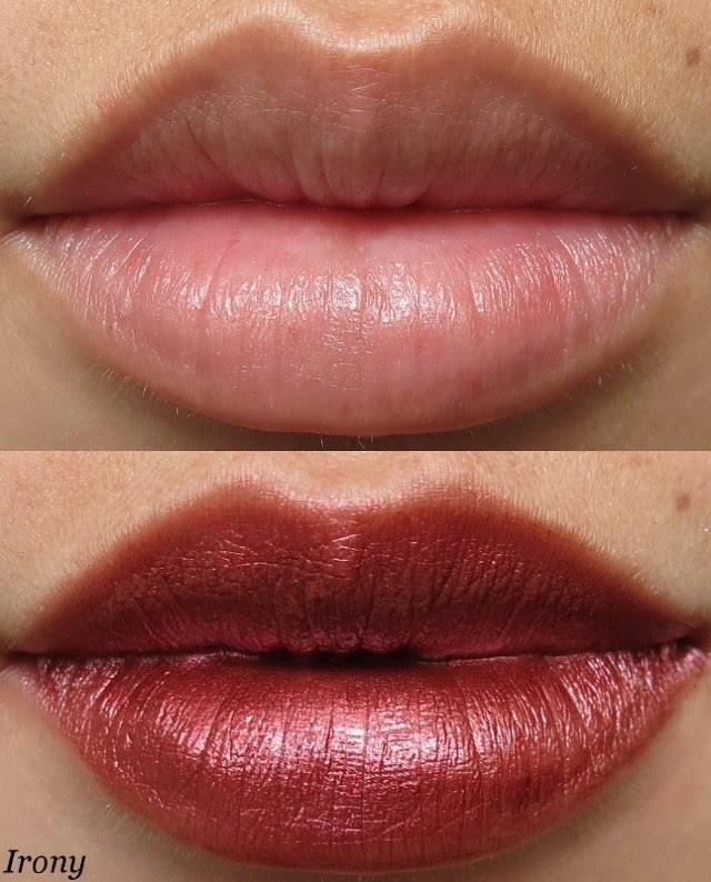 Portland Black Lipstick Company Irony Swatch