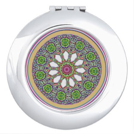 Pretty Purple and White Daisy Flower Tile Mosaic Vanity Mirrors