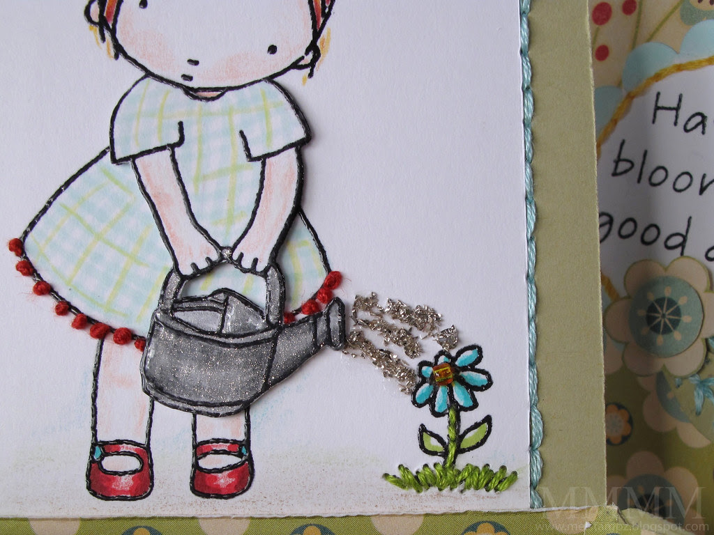 watering can & flower detail