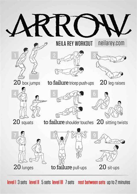 arrow workout bodyweight routine pop workouts