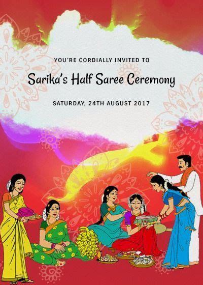 Halfsaree invitation   HalfSaree Ceremony in 2019   Half