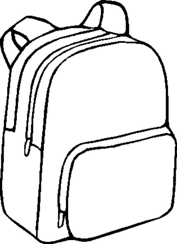 Mewarnai Gambar Tas Sekolah H Warna