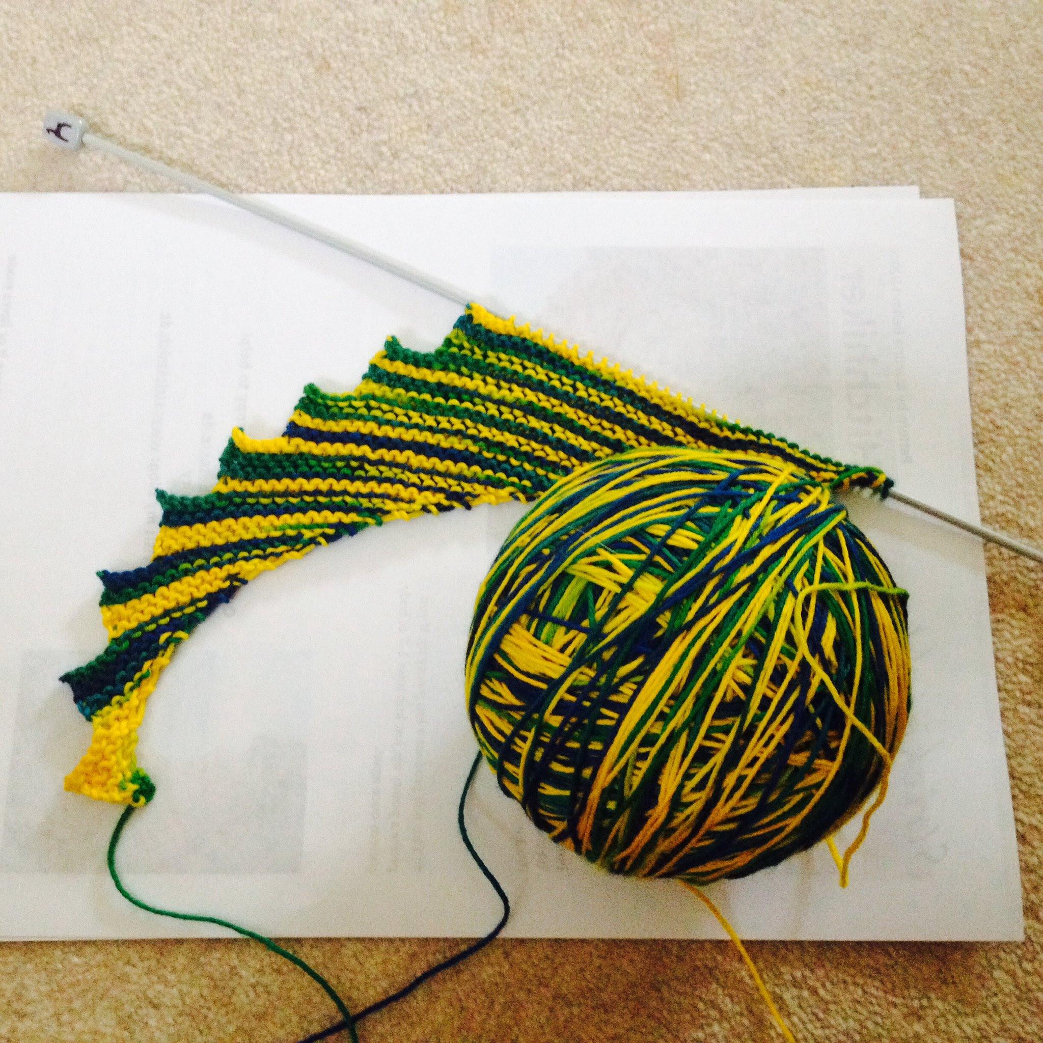 Hitchhiker shawl