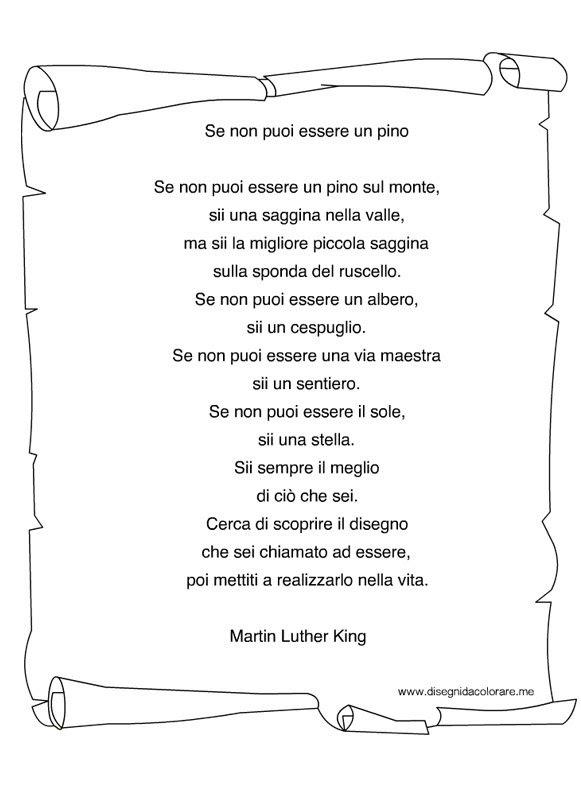 Poesia Martin Luther King Disegni Da Colorare