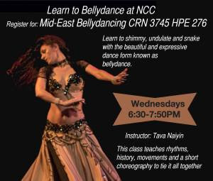 Tava teaches Bellydance at Norwalk Community College