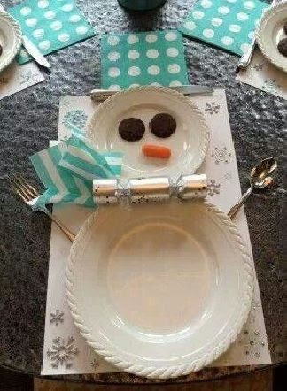 Christmas inspiration. Snowman Table Setting