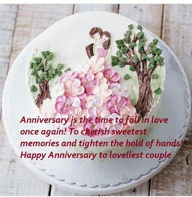 Happy Anniversary Beautiful Cake Wishes Messages Images Best Wishes