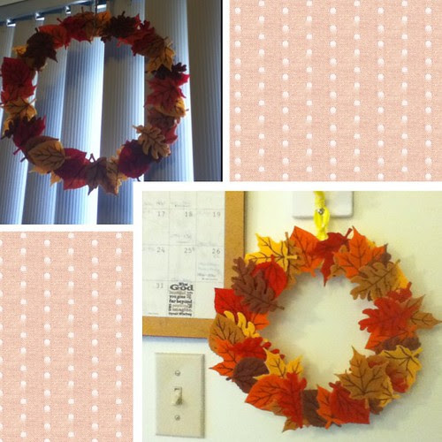 Autumn wreaths around my place <3 #fall #autumn #leaves #crafts