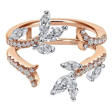 gabriel  rose white gold diamond enhancer band