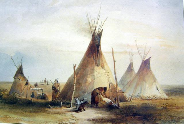 Lakota Sioux Camp 1833
