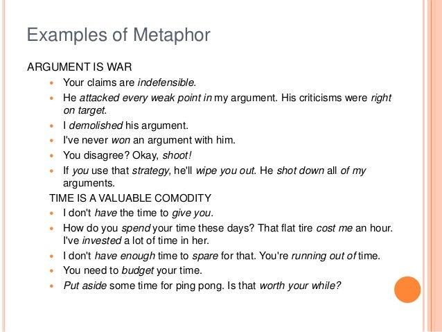 Metaphor examples alisen berde.