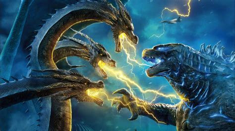godzilla  king ghidorah  wallpapers hd wallpapers