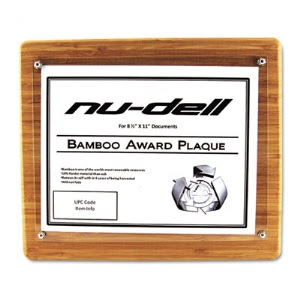 Bamboo Certificatedocument Rounded Edge Frame 8 12 X 11 Insert