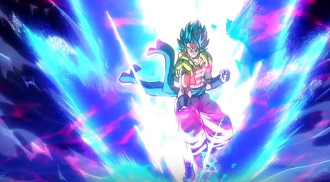 Blue Powering Up Dragon Ball Super Broly Gogeta