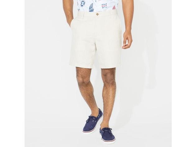 "Nautica Men's 8.5"" LIinen Blend Short Wheat Flax Size 40W for $94"