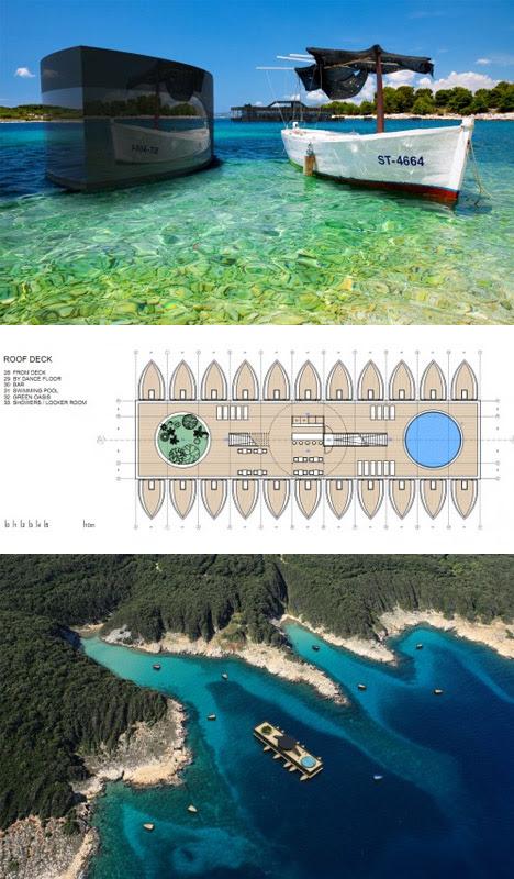 floating hotel rooms diagram
