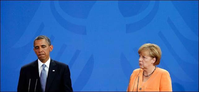 Obama y Merkel en una rueda de prensa en BErlín.- Reuters/Archivo