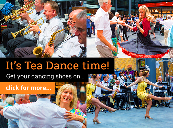 It's Tea Dance time! Get your dancing shoes on...