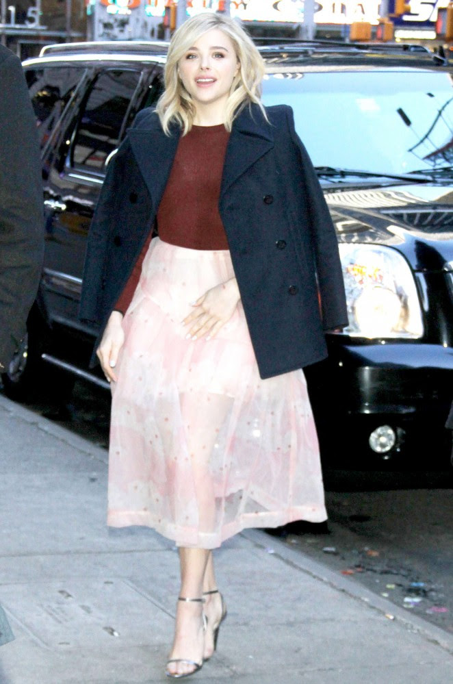 Chloe Moretz: Arriving for Good Morning America -06