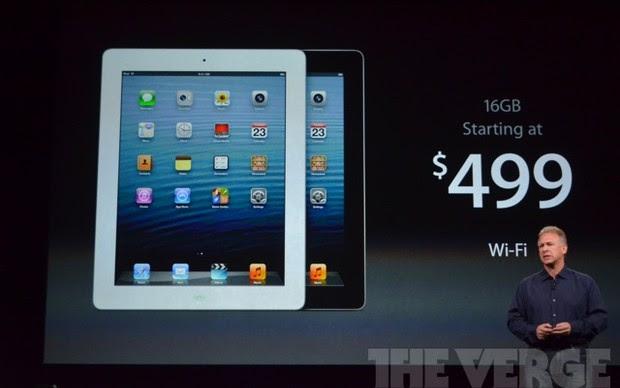 Preços da quarta geração do iPad (Foto: Reprodução/The Verge)