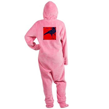 Crow Symbol Women's Footed Pajamas