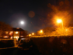 Night lights - with the moon and Jupiter