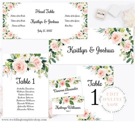 Wedding Table Numbers Printable Reception Template Cards
