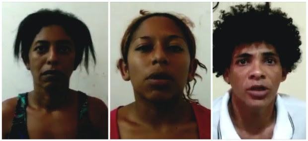 Francisca Maria, Kassandra e Maykon foram presos nesta quarta e confessaram os crimes (Foto: Divulgação/Polícia Civil)
