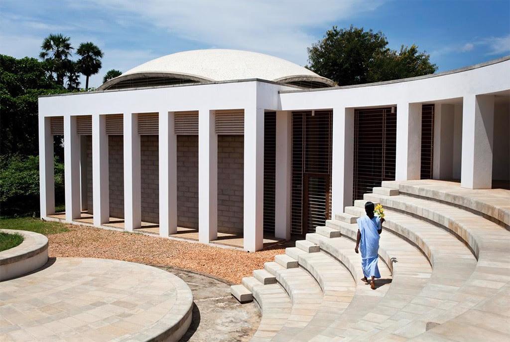 Teatro de arena da cidade de Auroville (Foto: Divulgação)