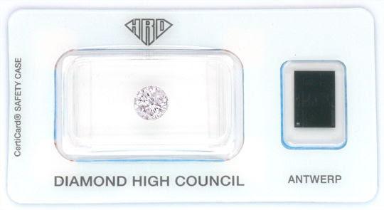 Foto 1, 1,10 Carat LIGHT GREYISH ROSA PINK Diamant Brillant HRD, D5170