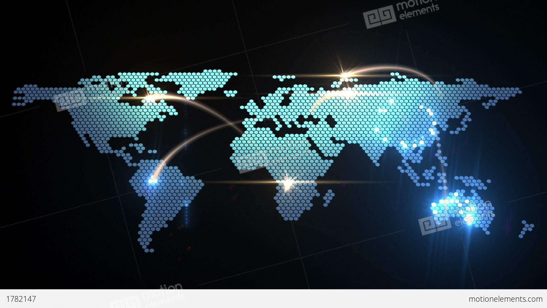 World Map Animation Stock Animation   1782147