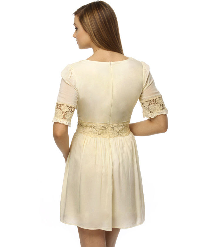 kleider mit spitze - Elfenbein Spitze Kleider - Elegante ...