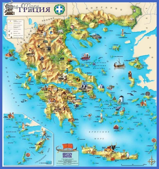 Tourist Map Of Greece CYNDIIMENNA