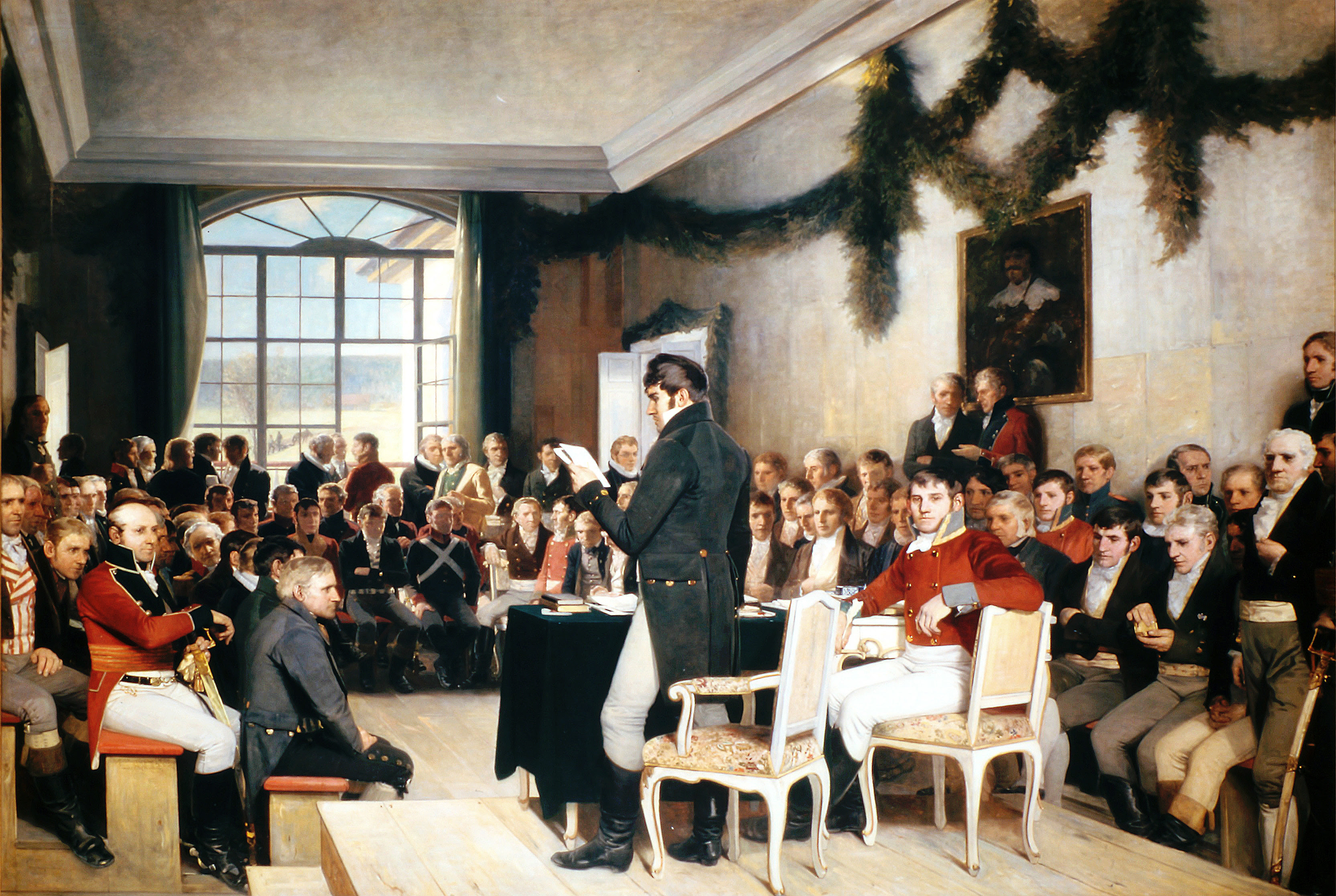 Oscar Wergeland: Rigsforsamlingen på Eidsvold 1814
