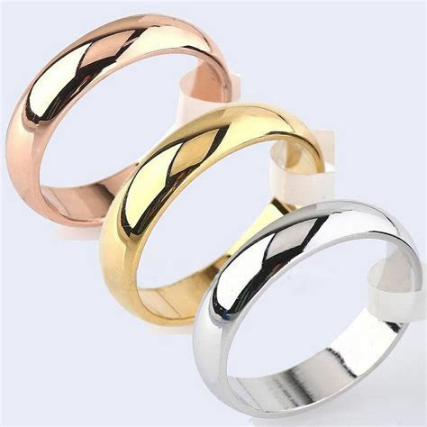 Men's & Women's 6mm Width Band Ring Plain Engagement