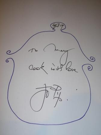 Jacques Pepin's Autograph in my cookbook
