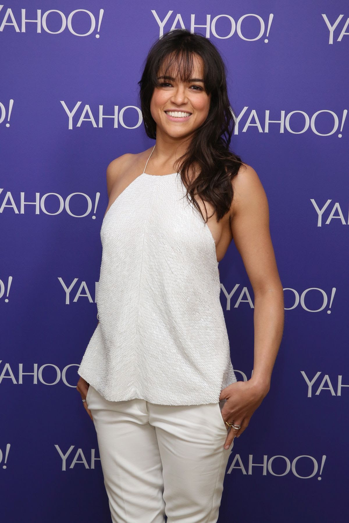 MICHELLE RODRIGUEZ at 2015 Yahoo Digital Content Newfronts in New York