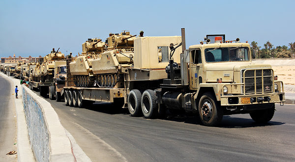 Egyptian Tanks Pouring Into Sinai... Israel Requests Their Removal... Peace Treaty In Jeopardy