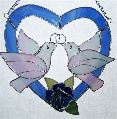 Stained glass, Heart with rose and Glasses on Pinterest