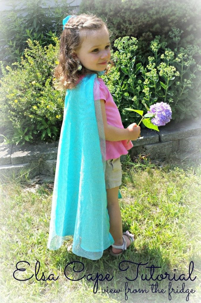 Add to your little girl's dress up with this beautifulElsa Cape Tutorial via View From the Fridge